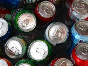 Cans of soda - save money bringing your own drink to work
