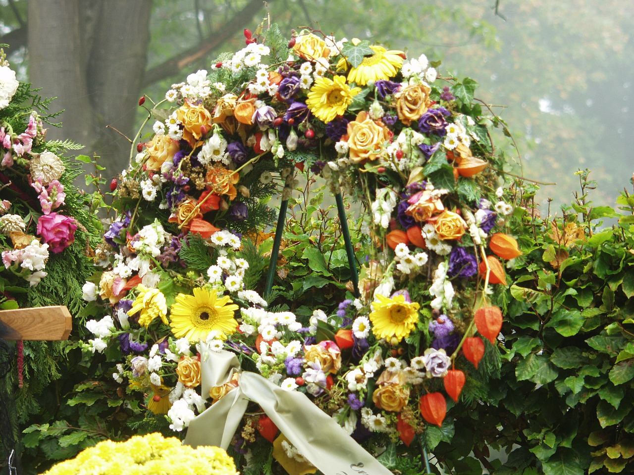 alternatives to flowers at funerals