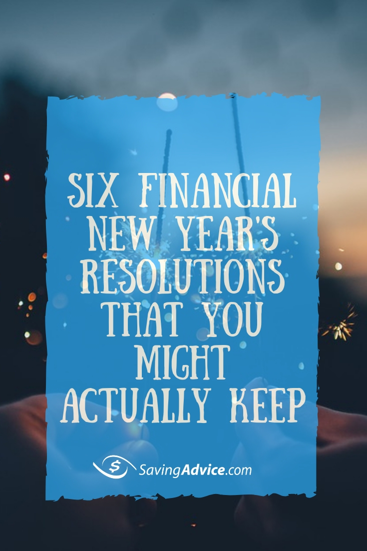 financial goals, financial resolutions, New Year's resolutions you can stick to