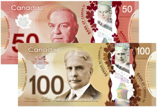 new Canada plastic money