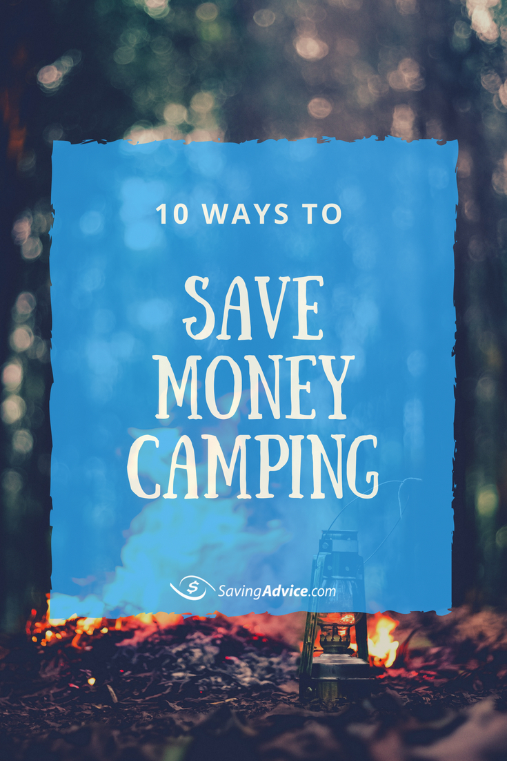 save money camping, budget camping, camping tips