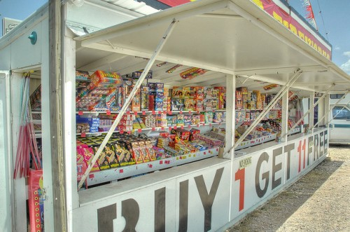 fireworks for sale at stand
