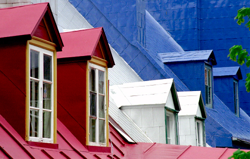 colorful metal roofs