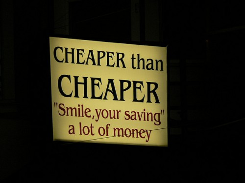 being cheap