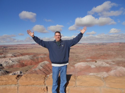 jeffrey enjoying the painted desert