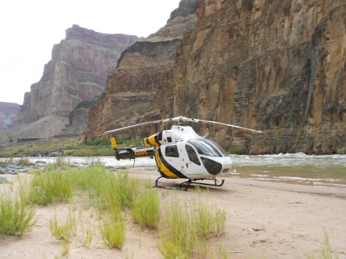 national park service helicopter Grand Canyon