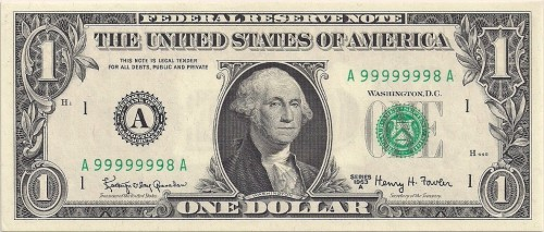 high serial number dollar bill