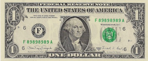super repeater serial number dollar bill
