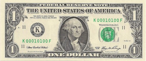 true binary dollar bill