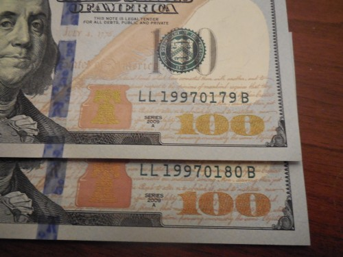 $100 1997 birthday serial number