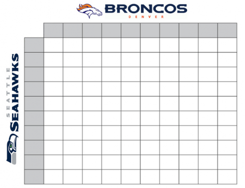2014 football squares printable sheet