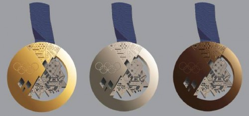 winter Olympic gold silver and bronze medals