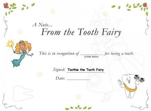 photograph regarding Printable Tooth Fairy Certificate named printable enamel fairy certification Archives - SavingAdvice