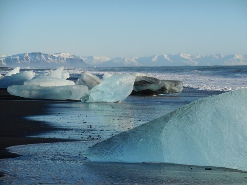 icebergs on beach
