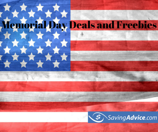 memorial day deals and freebies