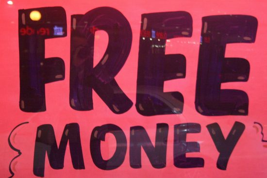 places to get free money