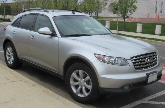 The Nissan 2003 Infiniti FX35 is one of the cars recalled due to airbag defects