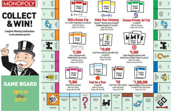 Prizes for the McDonald's Monopoly online game