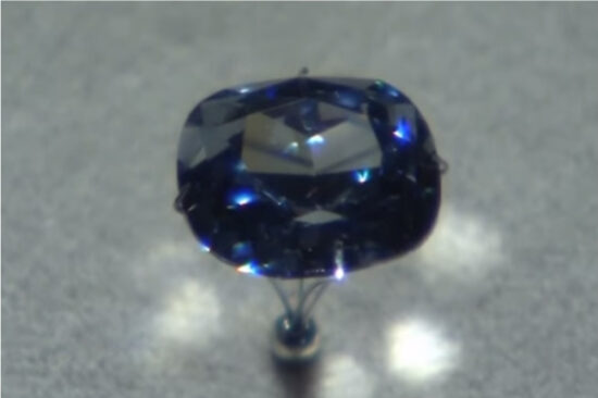 A rare flawless blue diamond will be displayed at  a Los Angeles museum