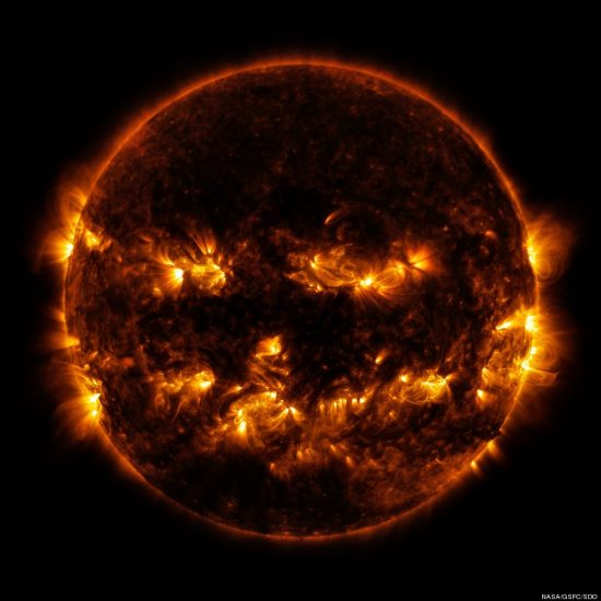 NASA releases photo of a Halloween pumpkin sun