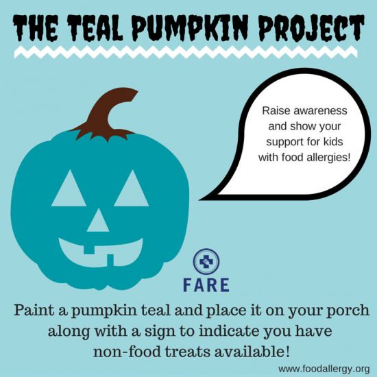 The teal pumpkin projects for kids with food allergies