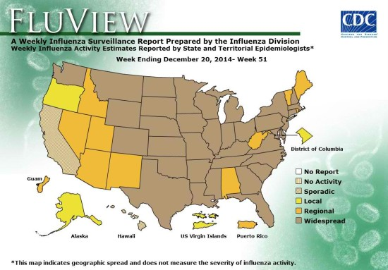 CDC says flu at epidemic levels in US