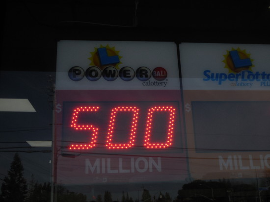 The odds of picking the Powerball winning numbers