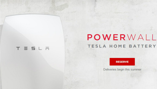 Tesla introduces Powerwall battery for home or business use