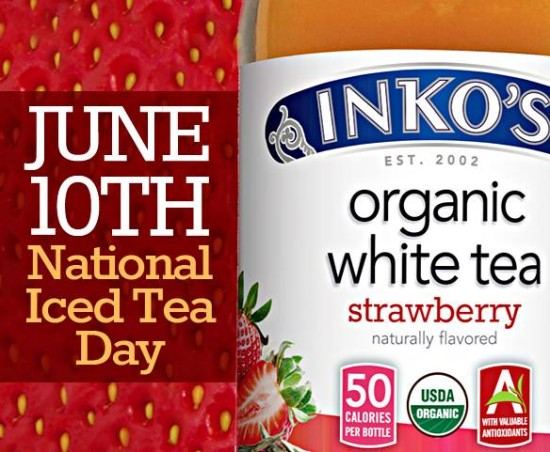 Coupon for a free bottle of Inko's organic white iced Tea