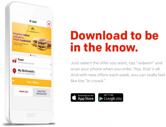 Get a Free Mcdonald's Sandwich Just for Downloading Their Free App!