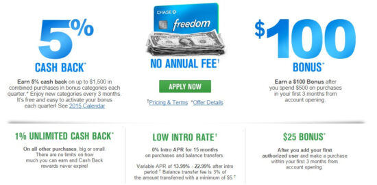Getting More from the Chase Freedom® Calendar