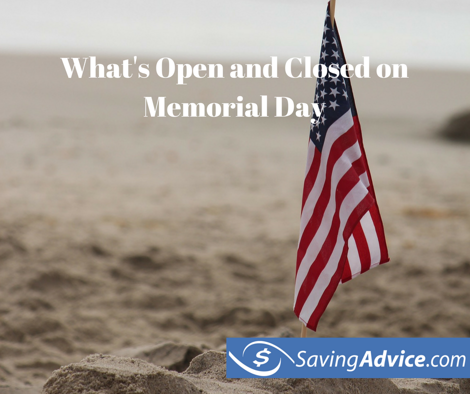 what's open and what's closed on memorial day