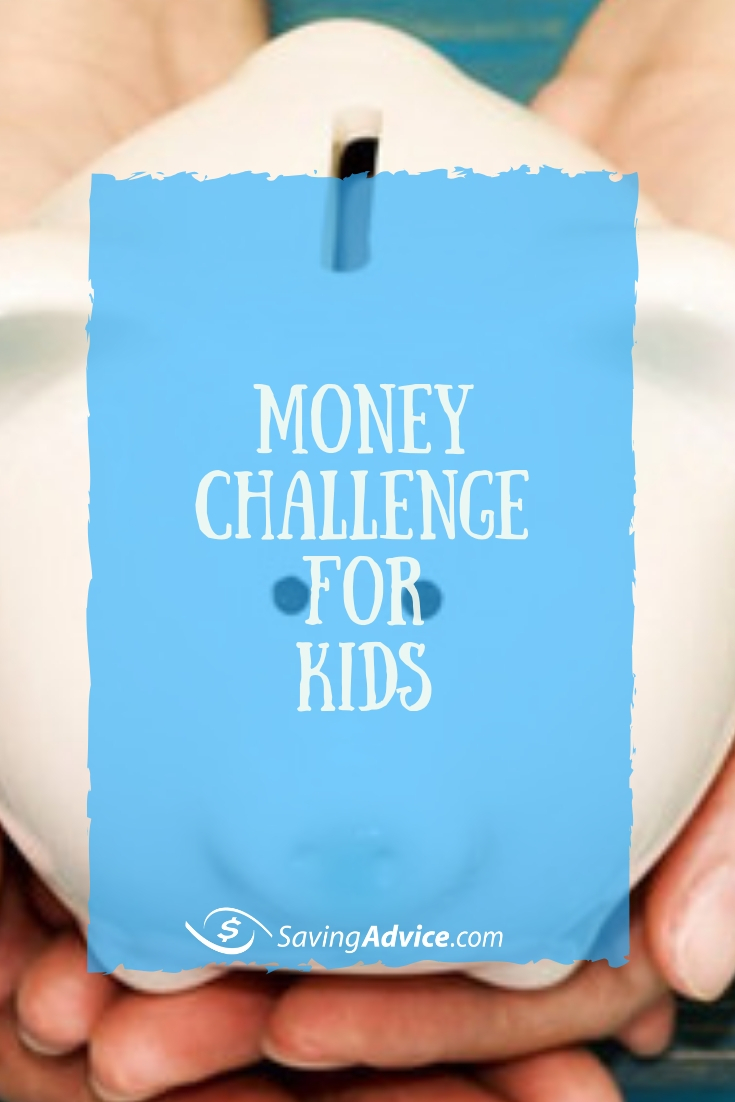 Money Challenge for Kids, saving money challenge for kids