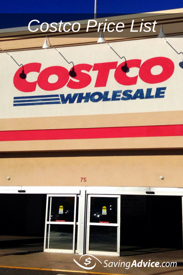 costco price list - savingadvice blog