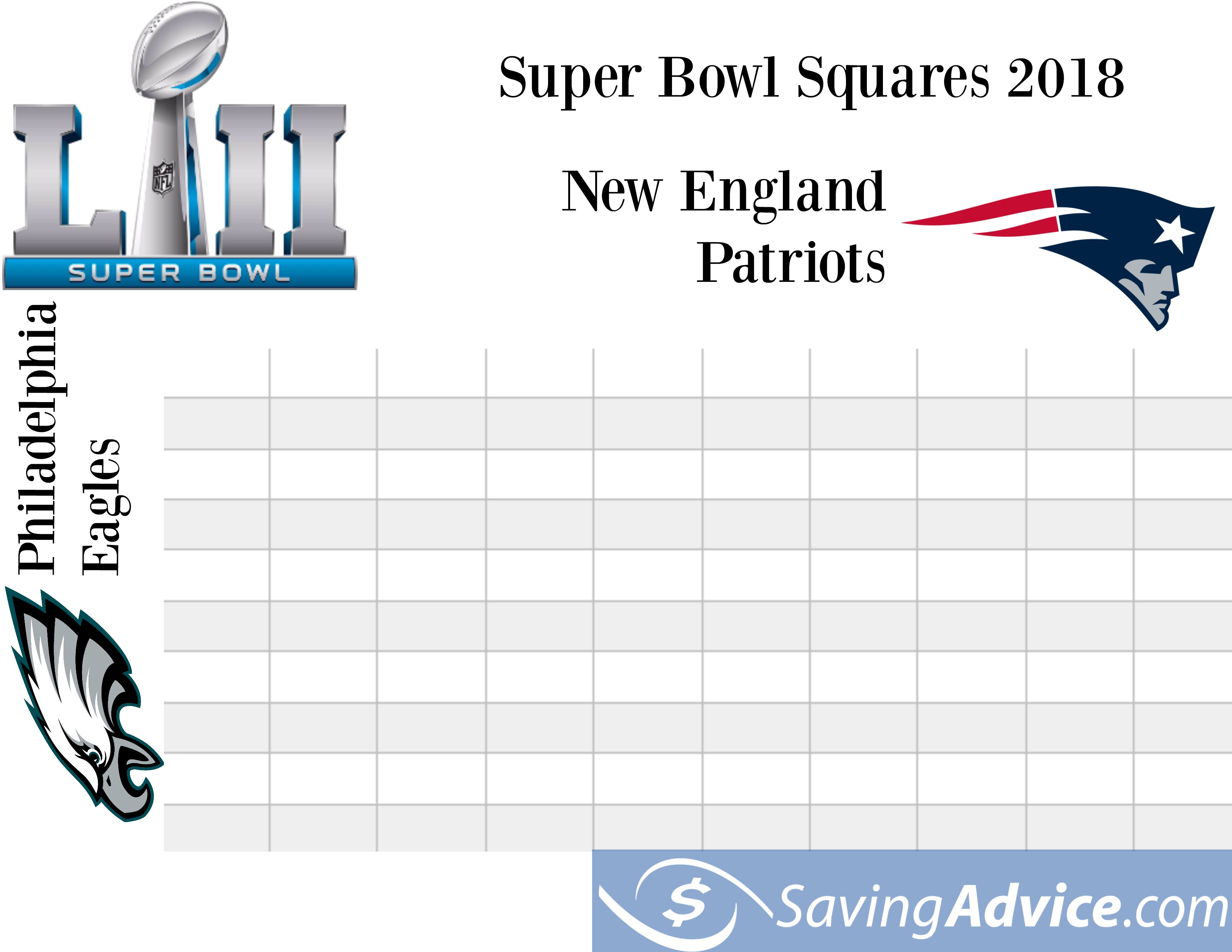 photo relating to Printable Super Bowl Pools identify soccer squares Archives - Weblog