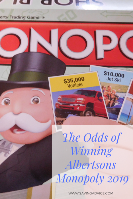 Albertsons Monopoly Odds