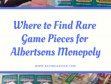 Rare Games Pieces for Albertsons Monopoly