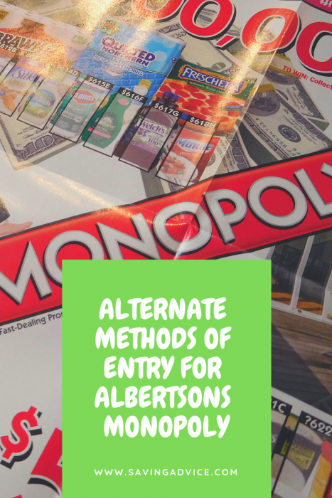 albertsons monopoly alternate method of entry