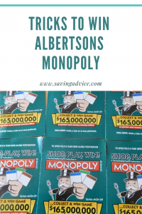 tricks to win albertsons monopoly