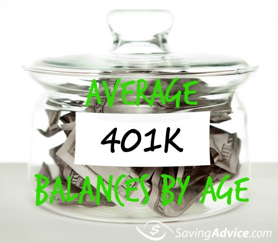 Average 401k balance by age