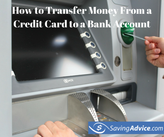 transfer money from a credit card to a bank account
