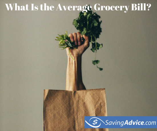 what is the average grocery bill