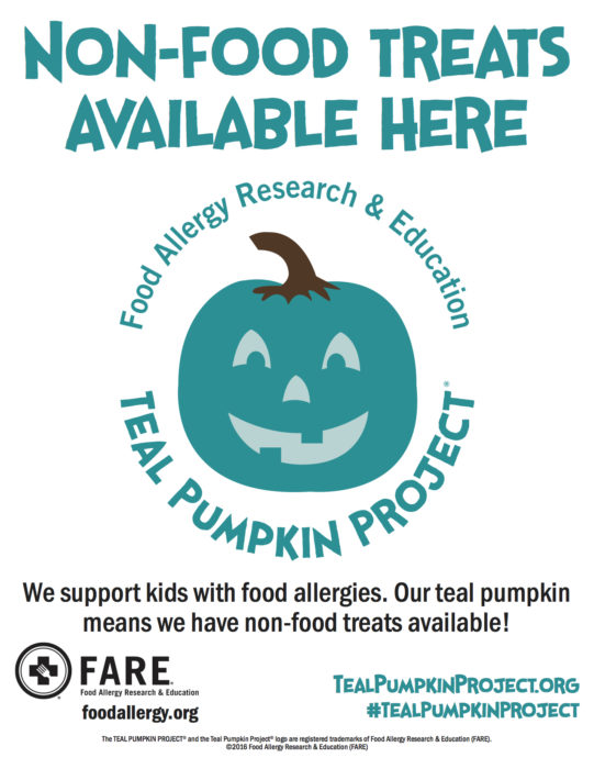Flyer for Teal Pumpkin Project