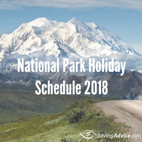 national park holiday schedule