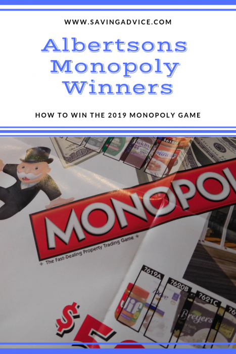 Albertsons Monopoly Game