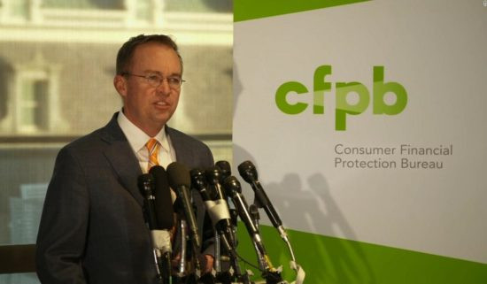 CSFB's Credit Card Report and Has the Consumer Financial Protection Bureau Changed Under Trump?