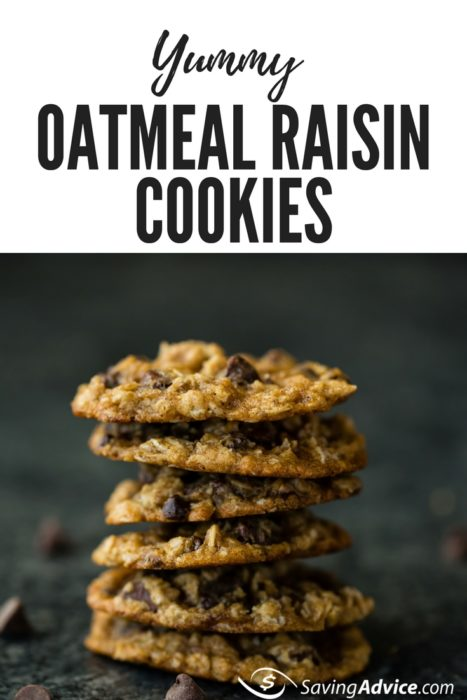 healthy cookies, oatmeal raisin cookies, cookie recipe