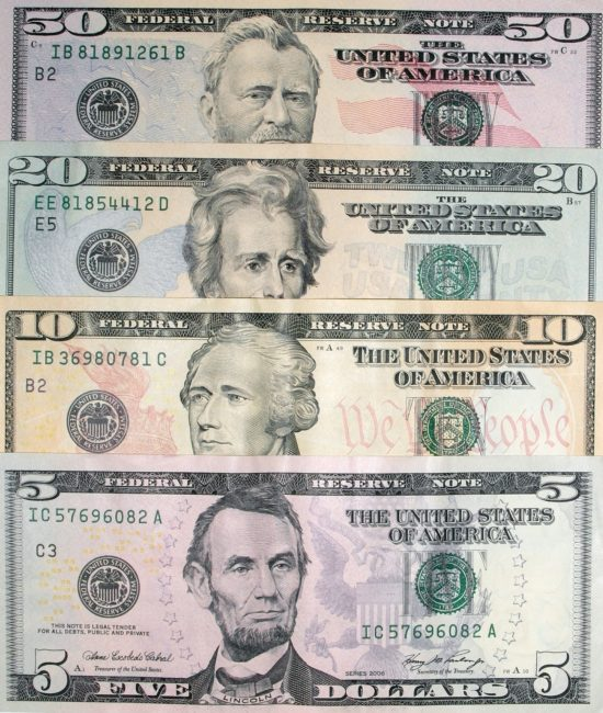 presidents on money