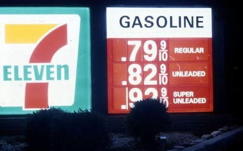 1990s price for gas