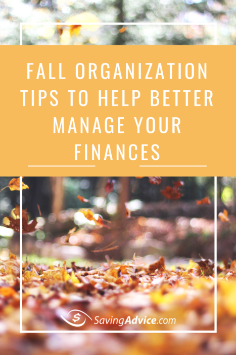 fall organization tips